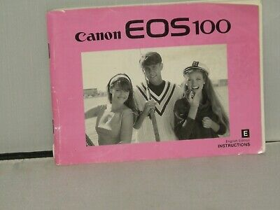 Canon EOS 100 Camera OPERATING / MANUAL Only FREE U/K POSTAGE