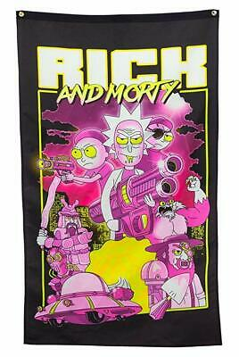Rick and Morty Adult Swim Characters Retro Tapestry Flag Banner Poster FGXRMC