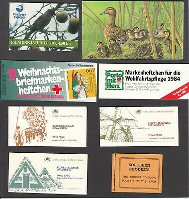 Stamp booklets (8), various countries (refer to description), all complete, MNH