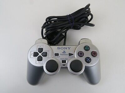 Silver Official Sony Playstation 2 PS2 Analogue DualShock Controller SCPH-10010