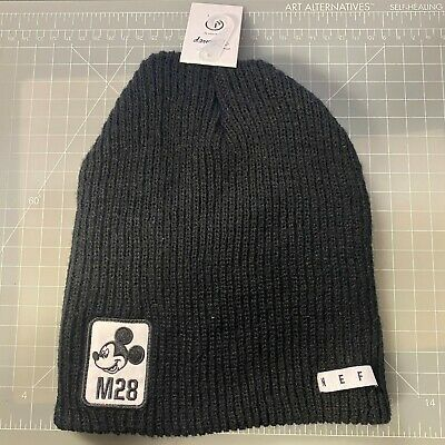 Neff Disney Collection Mickey Mouse Peek Cuffed Beanie Black Nwt