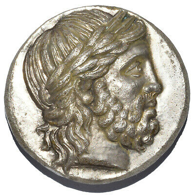 Ar Decadrachm Of Philip Ii Ancient Greek Silver Coin 41.71Gr 359-336Bc Alexander