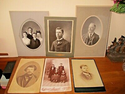 1930s TEEPLE WAUKON IOWA 6 CABINET PHOTOGRAPH CARDS FAMILY TREE Omaha Ne