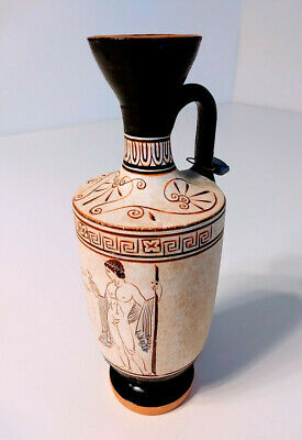 Ancient GREEK VESSEL Sealed, Museum-Quality Reproduction of Lekythos Oil Jug