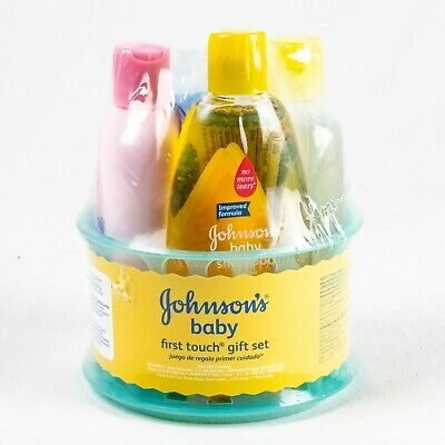 Johnsons First Touch Gift Set - Baby Bath & Baby Skin Care Shampoo Wash Lotion