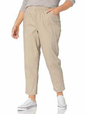 Chic Classic Collection Women's Size Plus Cotton Pull-On Pant with Elastic Wai..