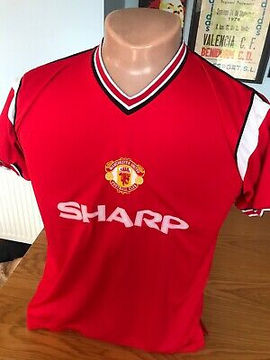 Score Draw 1985 Manchester United Man Utd Home Football Shirt Adult Medium