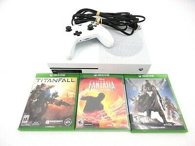 Microsoft Xbox One S 1 Tb With Cords 1 Controller & 3 Games - Destiny Titanfall