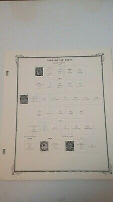 Portuguese India Scott Specialty Series Stamp Album Pages/Very Good Used!