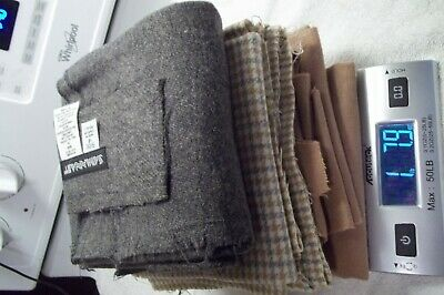Wool Fabric Lot Recycled Rug Hooking Penny Applique 1.5  Pounds Clean Primitive