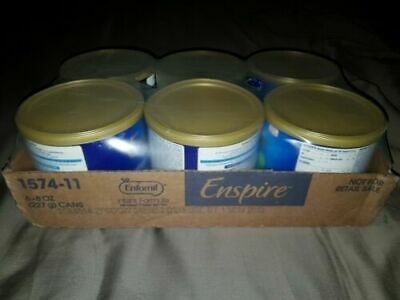 Lot of 6 Enfamil Enspire  0-12 Months.For easing gas fussiness.