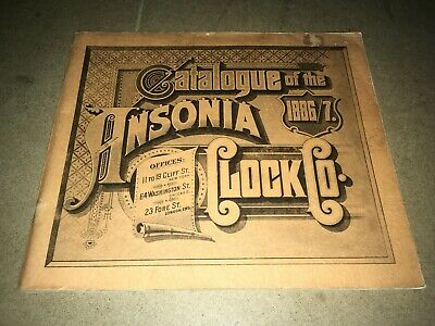 # Vintage Catalog Of The 1886-1887 Ansonia Clock Co.  #