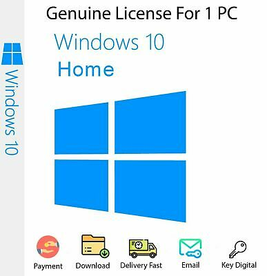 Microsoft Windows 10 Home 32/64 bit Product Key Works - Worldwide Full Version