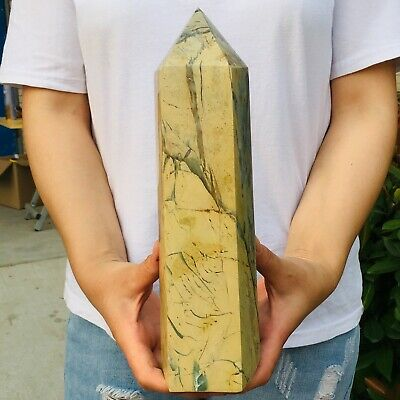 7.2LB Natural phoenix stone crystal obelisk quartz rod point healing MZQ133