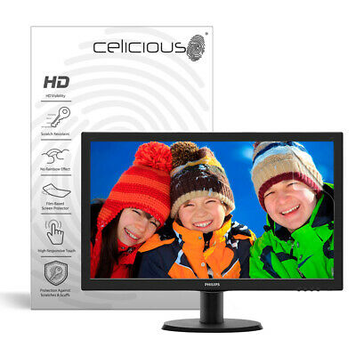 Celicious Vivid Philips Monitor 243V Invisible Screen Protector [Pack of 2]
