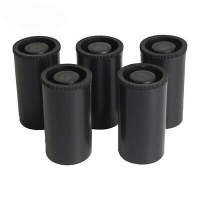 10pcs Plastic Empty Black Bottle Case 35mm Film Cans Containers Canisters P V2Y4
