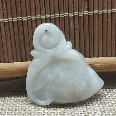 AAAAA Chinese Exquisite Hand-carved Natural A Jade jadeite Pendant (peach)