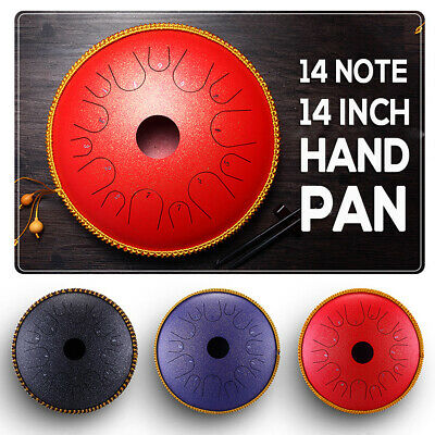 14 Notes Professional Steel Tongue Drum Hand Pan Manual Carbon Ethereal