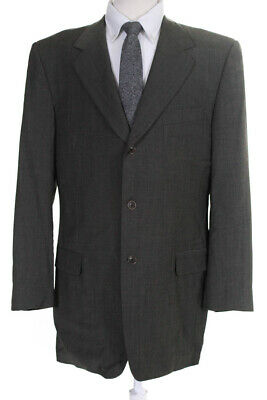 Trussini Family Britches Mens Notched Collar Blazer Wool Grey Size Italian 54