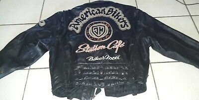 Johnny Hallyday Rare Blouson Cuir American Bikers Western Passion Taille L