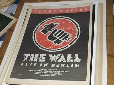 Pink Floyd Roger Walters The Wall Live In Berlin        Poster  1990 Framing