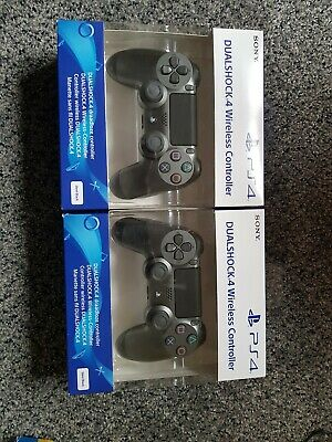 OFFICIAL SONY PS4 DUALSHOCK 4 WIRELESS CONTROLLER: STEEL BLACK: UK Stock: SEALED
