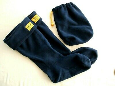 Joules Fleece Welly Liners & Storage bag - Size S