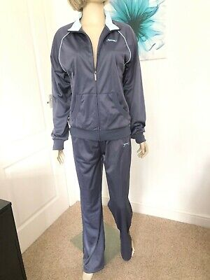 Ladies Size 14 (Eu 42) Brand New With Tags Grey Tracksuit Jacket & Trousers