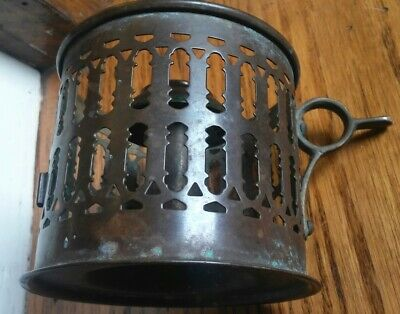 Rare Victorian ornate brass/bronze finger candle holder
