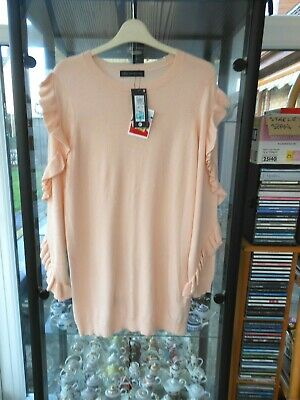 Bnwt Marks & Spencer Blush Pink Thigh Length Jumper Top Size 14