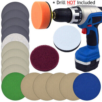 Sandpaper Scouring Cloth Pad Cushion Kit Polishing Cleaning Automotive Vehicle
