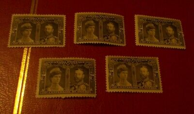 Canada Quebec Tercentenary 1908 SC 96 Lot Collection Of 5 Mint Hinged Stamps OG