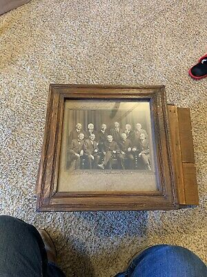 Vintage Real Photo Framed First Settlers Of Roan Creek Colorado 1883-1884 Signed