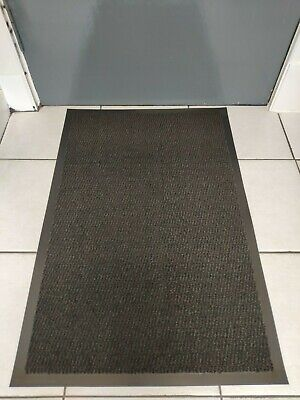 Black Heavy Duty Non Slip Rubber Barrier Mat Large Small Rugs Door Hall Kitchen