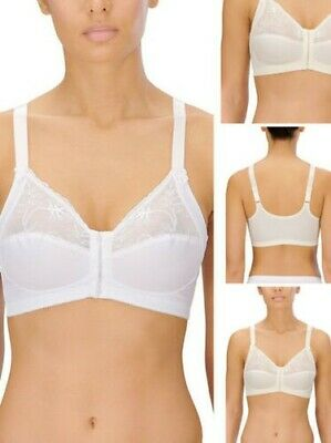 NATURANA 86818 LIGHTLY PADDED SOFT CUP WHITE BRA NO WIRE 32-38 A-B-C