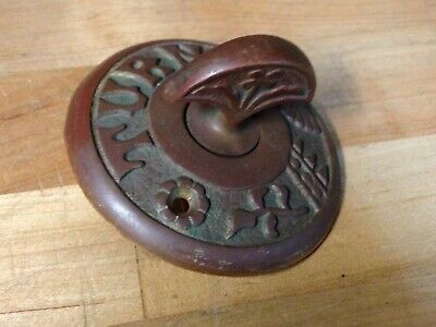 Antique Vintage Cast Brass Victorian Door Bell Thumb Turn Part