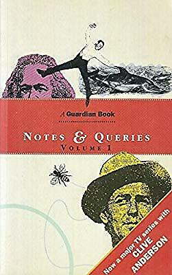 Notes and Queries: Vol 1, Whittaker, Brian, Used; Good Book