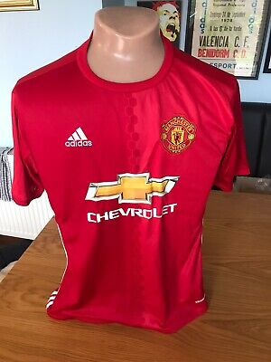 Adidas Manchester United Man Utd Home Football Shirt Adult Large Season 2016/17