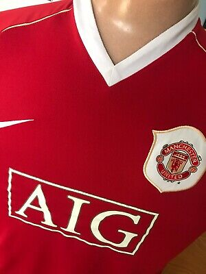Nike Manchester United Man Utd Home Football Shirt Adult Large Season 2006/07