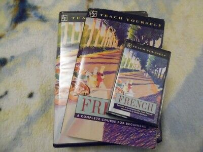 Teach Yourself French Complete Course for Beginners -320 pg Book + Cassette Tape