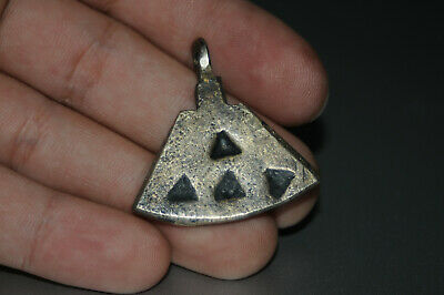 "Ancient Viking Solid Silver color pendant AMULET ""Hammer-AXE"" GREAT SAVE 8-10 AD"