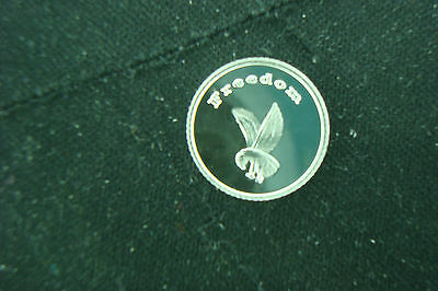 Freedom Eagle 1 Gram .999 Silver Feathers Round Coin Bullion  Survival  America