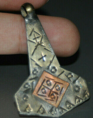 """Ancient Viking Solid Silver color pendant AMULET """"Hammer-AXE"""" GREAT SAVE #22"""