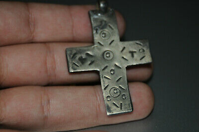 "Ancient Viking Solid Silver color pendant AMULET ""CROSS"" GREAT SAVE #16"