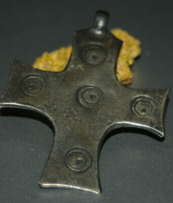 "Ancient Viking Solid Silver color pendant AMULET ""CROSS"" GREAT SAVE #18"
