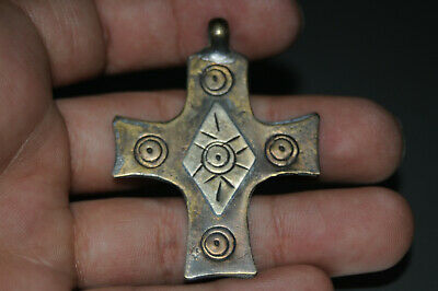 "Ancient Viking Solid Silver color pendant AMULET ""CROSS"" GREAT SAVE #21"