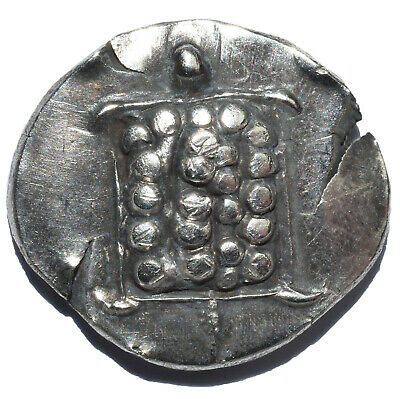 Ar Tetrobol 3.09Gr Aegina Attica Ancient Silver Coin The Greek Turtle 431-350Bc