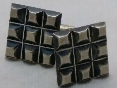 Mid Century Modern Sterling Silver Taxco Mexico Cufflinks