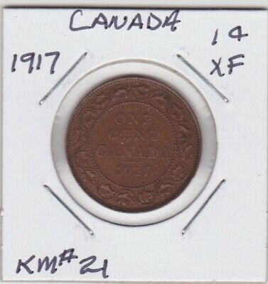 Canada 1917 Large Cent Extra Fine Km#21