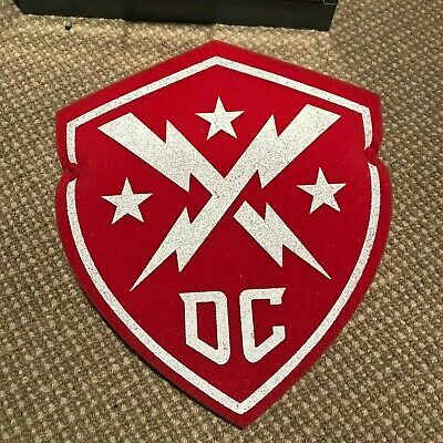 DC Defenders XFL Foam Shield -  Inaugural Game Promo - 2020 - Red and White
